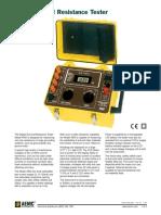 Especificaciones telurómetro AEMC 4500