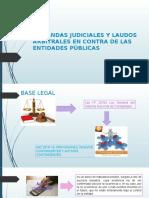 Demandas Judiciales y Laudos Arbitrales