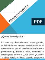 Tecnicas de Investigacion