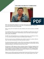 Biography of Susilo Bambang Yudhoyono