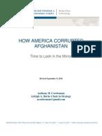 America, Corruption, Afghanistan