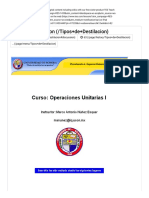 Operaciones Unitarias I - Tipos de Destilacion