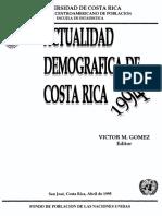 La Mortalidad Infantil en Costa Rica. Rosero