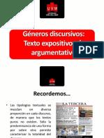 Expositivo vs Argumentativo