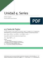 Unidad 4. Series (Cálculo Integral)