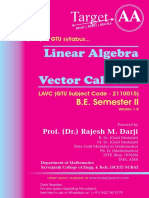 Linear Algebra and Vector Calculus