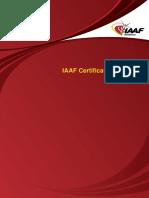 Prosedur Sertifikasi Lintasan Atletik Oleh Iaaf