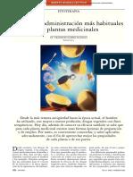 Formas de administración más habituales de plantas medicinales