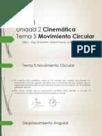 Unidad 2 Cinematica Tema 5 Movimiento Circular