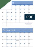 2018 Calendar Bold