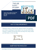 how does the use of technology affect your sleep