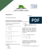 Mate IV Operaciones Con Matrices
