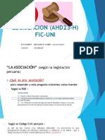LA  ASOCIACIÓN , SEGUN LA LEGISLACION PERUANA,Legislacion (Ahd23 h)