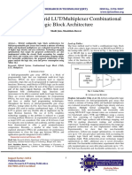 Review on Hybrid LUT/Multiplexer Combinational Logic Block Architecture