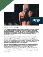 Shoulder Pain After Training