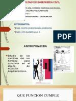 ARQUITECTURA Antropometria y Ergonometria