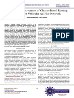 Review on Improvement of Cluster-Based Routing Protocol on Vehicular Ad-Hoc Network