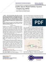 A Review of Variable Speed Wind Turbine System Employing DFIG