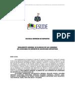 reglamento ESUDE