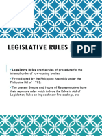 Legislative Rules