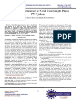 Modeling & Simulation of Grid-Tied Single Phase PV System