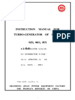 Instruction Manul for Turbo-generator of Series 0JS.461.331