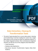 Data Extraction Cleanup and Transformation Tools