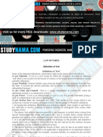 Law of Torts - LLB - Notes.pdf