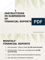 Reminder in Submission of Financial Reports