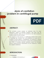 Cavitaion Problem in Centrifugal Pump Ppt