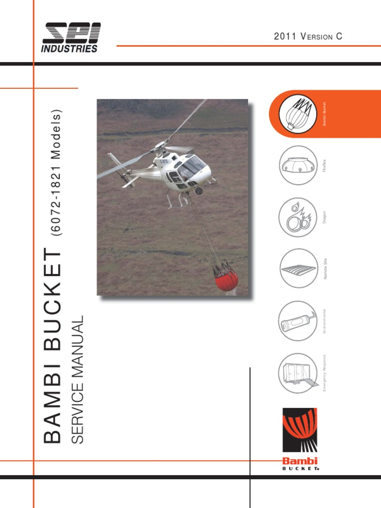 Bambi Bucket Service 6072 1821 Manual   Ac Power Plugs And Sockets    Helicopter