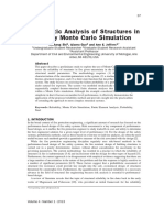 Stochastic Analysis of Structures in Fire by Monte Carlo Simulation