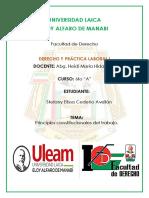 Tarea i Principios Constitucionales Laboral Del Ecuador