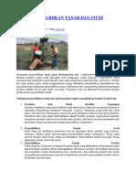 Tahap Penyelidikan Tanah Dan Studi Pondasi