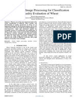 Application of Image Processing for Classification and Quality Evaluation of Wheat