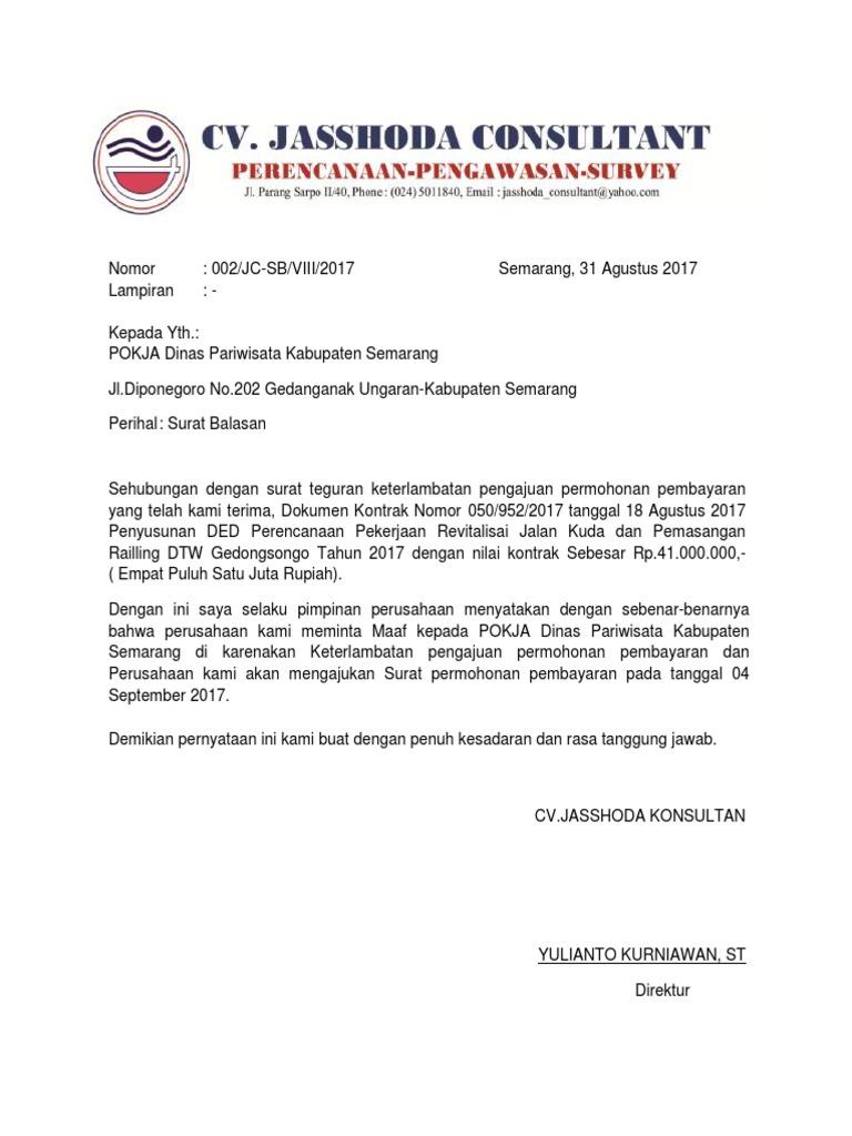 40+ Contoh surat balasan atas teguran terbaru terbaru
