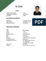 Curriculum Vitae Amiel