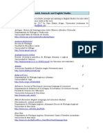 Spanish Journals and English Studies AEDEAN