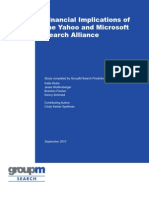 Financial Implications of the Yahoo and Microsoft Search Alliance
