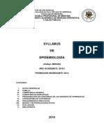 Syllabus Epidemiología MH - 2018 I v 12.02.18
