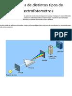 2 Catalogos de Distintos Tipos de Espectrofotometros..