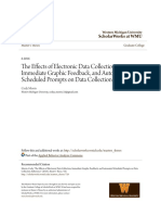 The Effects of Electronic Data Collection Immediate Graphic Feed