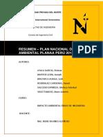 RESUMEN - PLAN NACIONAL DE ACCIÓN AMBIENTAL PLANAA PERÚ 2011-2012