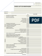 Check List Montagem Modelo