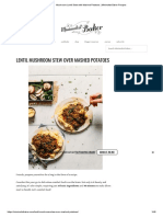 Mushroom Lentil Stew With Mashed Potatoes _ Minimalist Baker Recipes