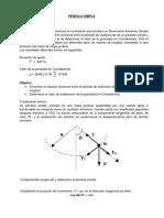 Informe III Pendulo Simple