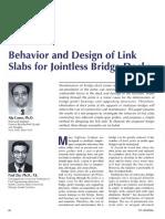 Behavior and Design of Link Slabs for Jointless Bridge Decks