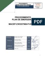 MACEP CW2227908 P HSE 009 Plan de Emergencia