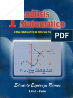 Analisis Matematico I - Eduardo Espinoza