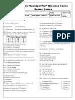 avaliação 9º